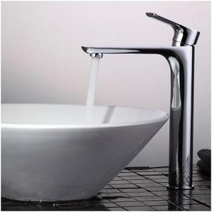 Hohe Badarmatur Waschtischarmatur Wasserhahn Bad Mischbatterie Armatur Einhebelmischer Waschtisch Waschbeckenarmatur für Badzimmer - HOMELODY