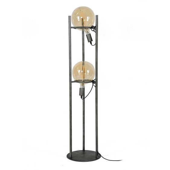Hohe Tischlampe in Altsilberfarben Loft Design