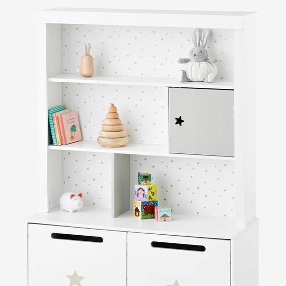 Hohes Kinderzimmer-Regal Sirius weiß/grau