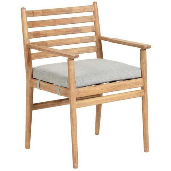 Holz Armlehnenstuhl aus Eukalyptusholz Skandi Design