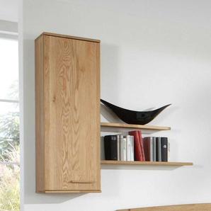 Holz H�ngeschrank mit Wandregalen 120 cm