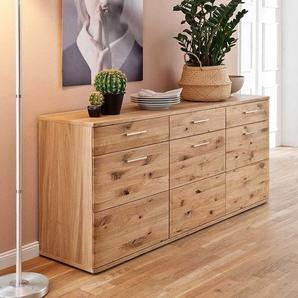 Holz Sideboard aus Eiche Bianco ge�lt 180 cm breit