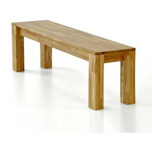 Holzbank aus Wildeiche Massivholz lackiert