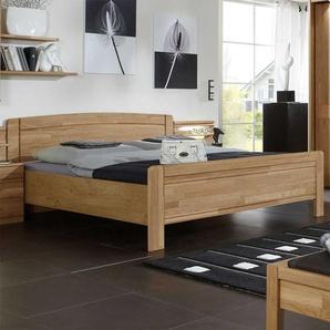 Holzbett aus Eiche Teilmassiv Made in Germany