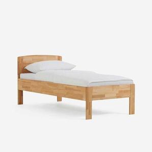 Holzbett aus Kernbuche Massivholz Überlänge