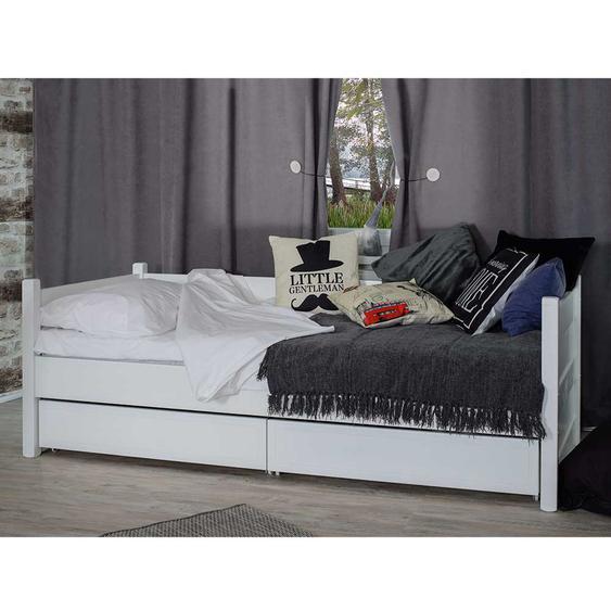 Holzbett in Weiß Skandi Design