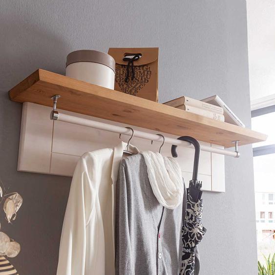 Holzgarderobe in Weiß und Eichefarben Landhaus Design