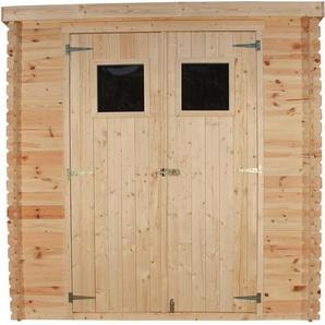 Holzhaus Gartenhaus TIMBELA M309+M309G - Gartenschuppen Holz mit Boden Imprägnierte B204xL204xH202 cm/ 3.53 m2 Lagerschuppen für Garten - Fahrrad Schuppen - Wasserfestes Dach