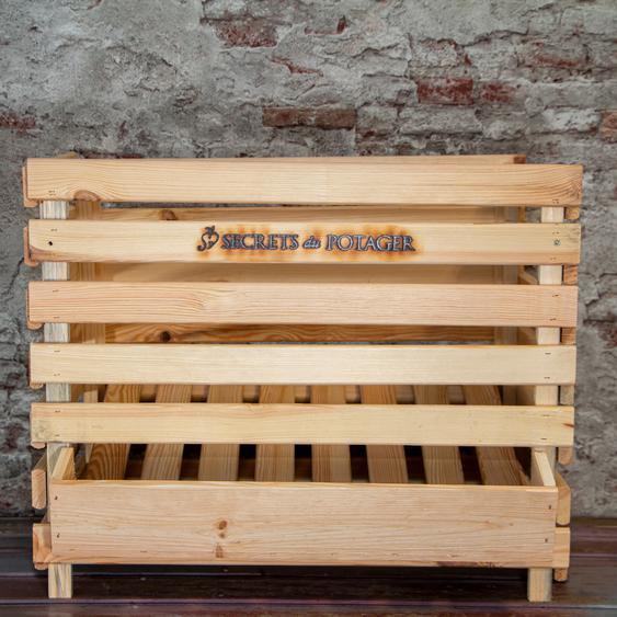 Holzkiste, Größe XL, mit Aufdruck, für Kartoffeln