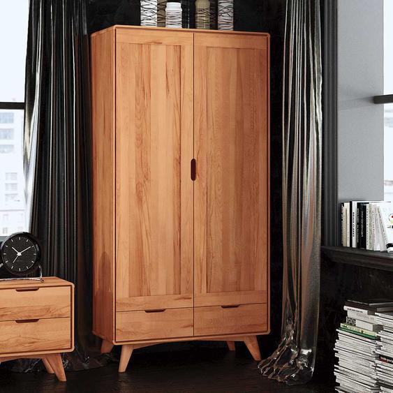 Holzkleiderschrank aus Kernbuche Massivholz geölt