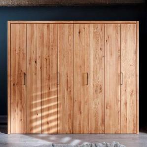 Holzkleiderschrank aus Wildeiche Massivholz Faltt�ren
