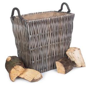 Holzkorb Aydan aus Korbgeflecht