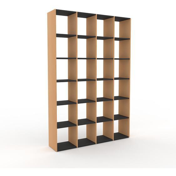 Holzregal Buche, Holz - Skandinavisches Regal aus Holz: Hochwertige Qualität, einzigartiges Design - 156 x 233 x 35 cm, Personalisierbar