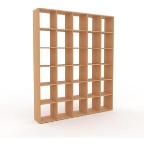 Holzregal Buche, Holz - Skandinavisches Regal aus Holz: Hochwertige Qualität, einzigartiges Design - 195 x 233 x 35 cm, Personalisierbar