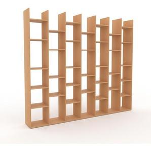 Holzregal Buche, Holz - Skandinavisches Regal aus Holz: Hochwertige Qualität, einzigartiges Design - 272 x 233 x 35 cm, Personalisierbar