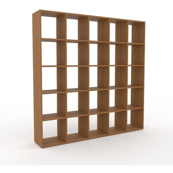 Holzregal Eiche, Holz - Skandinavisches Regal aus Holz: Hochwertige Qualität, einzigartiges Design - 195 x 195 x 35 cm, Personalisierbar