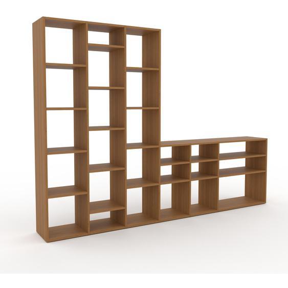 Holzregal Eiche, Holz - Skandinavisches Regal aus Holz: Hochwertige Qualität, einzigartiges Design - 270 x 195 x 35 cm, Personalisierbar