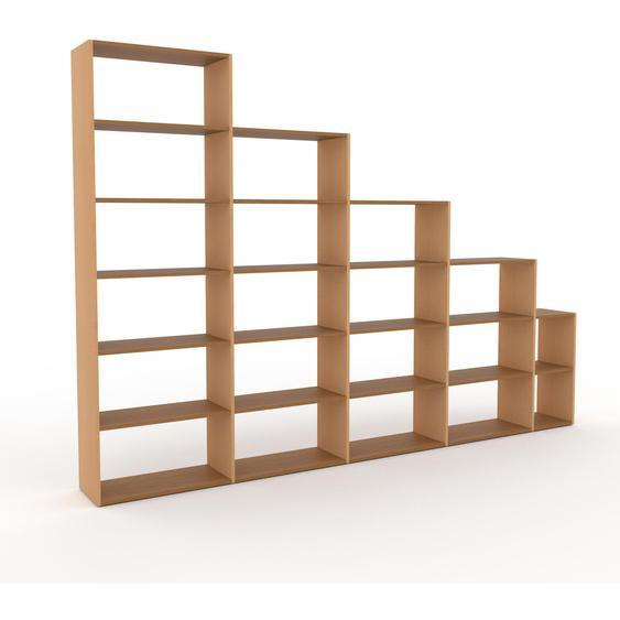 Holzregal Eiche, Holz - Skandinavisches Regal aus Holz: Hochwertige Qualität, einzigartiges Design - 339 x 233 x 35 cm, Personalisierbar