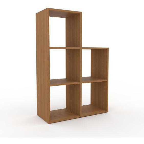 Holzregal Eiche, Holz - Skandinavisches Regal aus Holz: Hochwertige Qualität, einzigartiges Design - 79 x 118 x 35 cm, Personalisierbar