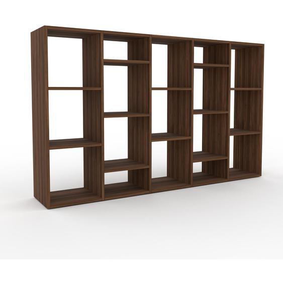 Holzregal Nussbaum, Holz - Skandinavisches Regal aus Holz: Hochwertige Qualität, einzigartiges Design - 195 x 118 x 35 cm, Personalisierbar