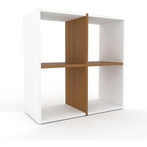 Holzregal Weiß - Skandinavisches Regal aus Holz: Hochwertige Qualität, einzigartiges Design - 79 x 80 x 35 cm, Personalisierbar