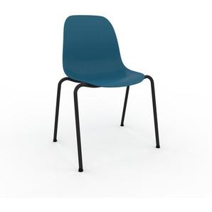 Holzstuhl in Blau 49 x 82 x 57 cm einzigartiges Design, konfigurierbar