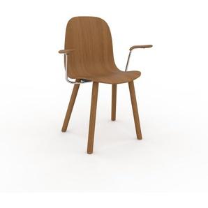 Holzstuhl in Eiche 49 x 83 x 62 cm einzigartiges Design, konfigurierbar