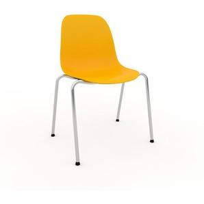 Holzstuhl in Gelb 49 x 82 x 57 cm einzigartiges Design, konfigurierbar