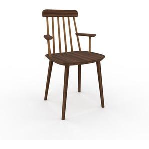 Holzstuhl in Nussbaum 43 x 82 x 53 cm einzigartiges Design, konfigurierbar