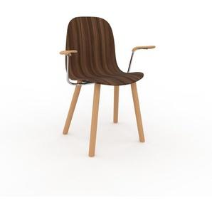 Holzstuhl in Nussbaum 49 x 83 x 62 cm einzigartiges Design, konfigurierbar
