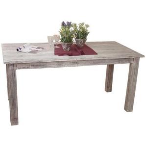 Holztisch aus Akazie Massivholz White Wash gebürstet