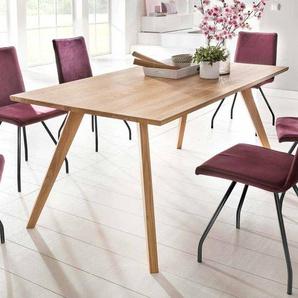 Holztisch aus Eiche Massivholz modern