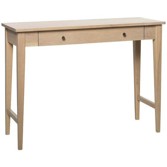 Holztisch in White Wash 100 cm breit