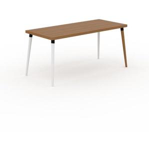 Holztisch Massivholz Eiche, zertifiziertes Holz - Eleganter Esstisch, Massivholztisch: Einzigartiges Design - 160 x 75 x 70 cm, konfigurierbar
