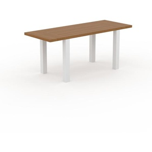 Holztisch Massivholz Eiche, zertifiziertes Holz - Eleganter Esstisch, Massivholztisch: Einzigartiges Design - 180 x 76 x 70 cm, konfigurierbar