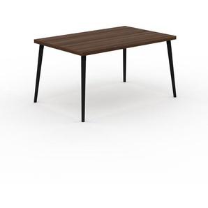 Holztisch Massivholz Nussbaum, zertifiziertes Holz - Eleganter Esstisch, Massivholztisch: Einzigartiges Design - 140 x 75 x 90 cm, konfigurierbar