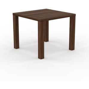 Holztisch Massivholz Nussbaum, zertifiziertes Holz - Eleganter Esstisch, Massivholztisch: Einzigartiges Design - 90 x 76 x 90 cm, konfigurierbar
