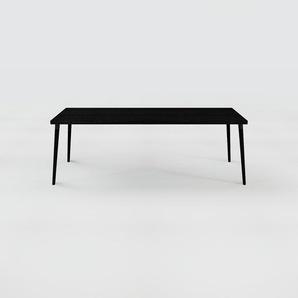 Holztisch Massivholz Wenge, zertifiziertes Holz - Eleganter Esstisch, Massivholztisch: Einzigartiges Design - 220 x 75 x 90 cm, konfigurierbar
