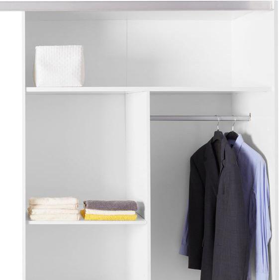 Holzzone Inneneinteilung 111x47x161 cm weiß Zubehör für Kleiderschränke Möbel Schrankinneneinteiler
