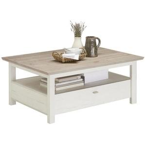 Hom`in: Couchtisch, Grau, Weiß, B/H/T 80 45 110