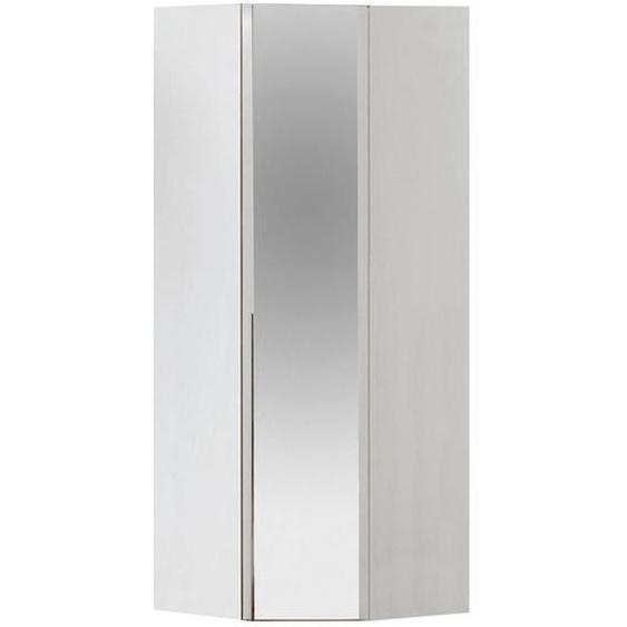 Hom`in Eckschrank Weiß , Holzwerkstoff , 1 Fächer , 92.3x236x92.3 cm