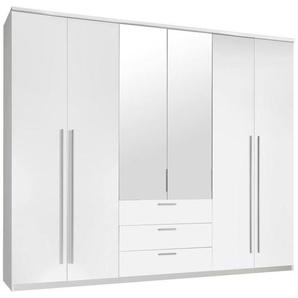 Hom`in: Kleiderschrank, Holzwerkstoff, Weiß, B/H/T 270 225 59