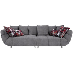 Hom`in: Sofa, Hellgrau, B/H/T 300 87 133