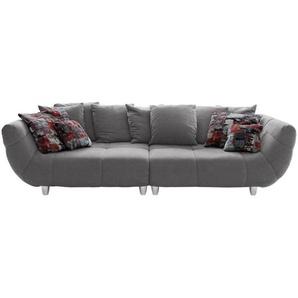 Hom`in: Sofa, Anthrazit, Mehrfarbig, B/H/T 300 87 133