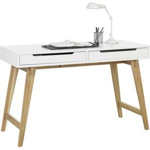 Hom`in: Tisch, Eiche, Weiß, Eiche, B/H/T 120 75 50