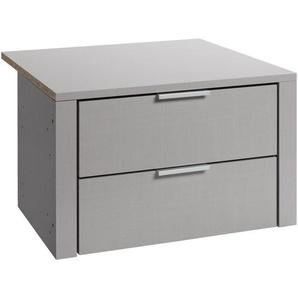 SCHUBKASTENEINSATZ für 50er Elemente Grau, Silberfarben