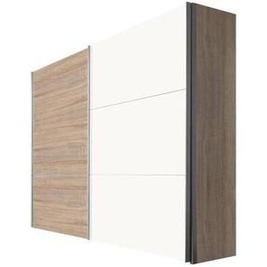 Hom`in: Schwebetürenschrank, Holzwerkstoff, Sonoma Eiche, Weiß, B/H/T 250 216 68