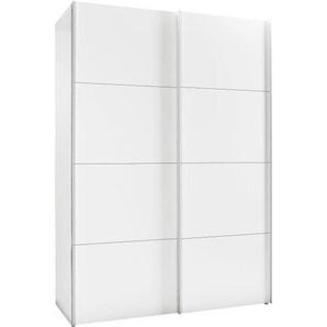 Hom`in: Schwebetürenschrank, Holzwerkstoff, Weiß, B/H/T 150 216 68