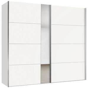 Hom`in: Schwebetürenschrank, Holzwerkstoff, Weiß, B/H/T 200 216 68