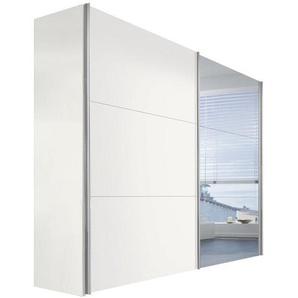 Hom`in: Schwebetürenschrank, Holzwerkstoff, Weiß, B/H/T 250 216 68